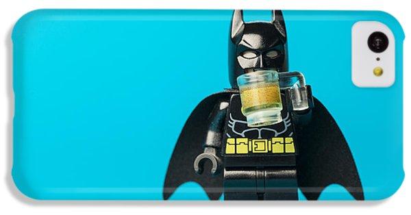 Bat iPhone 5c Case - Even Batman Needs A Beer by Samuel Whitton