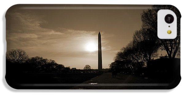 Evening Washington Monument Silhouette IPhone 5c Case by Betsy Knapp