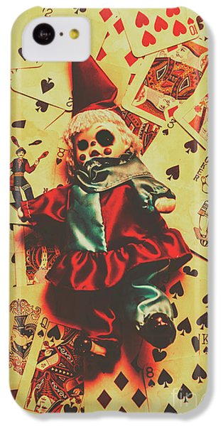 Evil Clown Doll On Playing Cards IPhone 5c Case