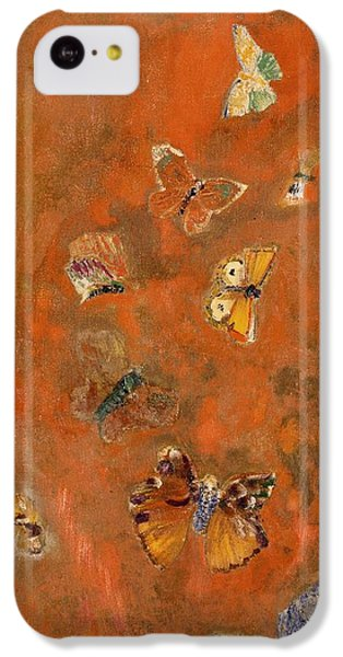 Surrealism iPhone 5c Case - Evocation Of Butterflies by Odilon Redon