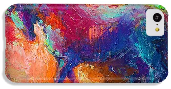 iPhone 5c Case - Expressive Stallion Painting By by Svetlana Novikova