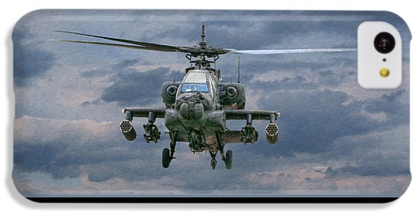 Helicopter iPhone 5c Case - Face Of Death Ah-64 Apache Helicopter by Randy Steele