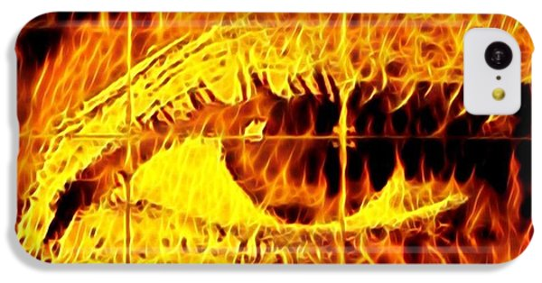 iPhone 5c Case - Face The Fire by Gina Callaghan
