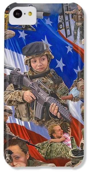 Helicopter iPhone 5c Case - Fair Faces Of Courage by Karen Wilson