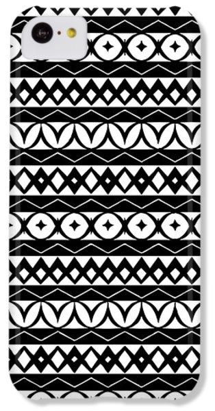 Fair Isle Black And White IPhone 5c Case by Rachel Follett