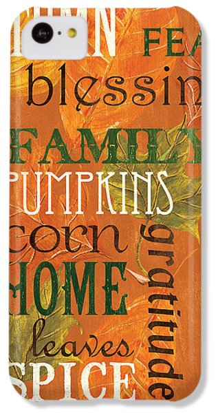 Fall Typography 1 IPhone 5c Case