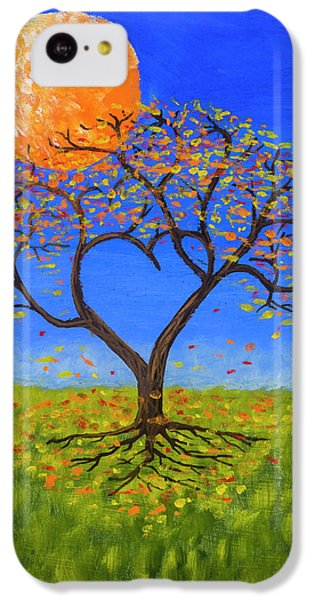 Orange iPhone 5c Case - Falling For You by Jerry McElroy