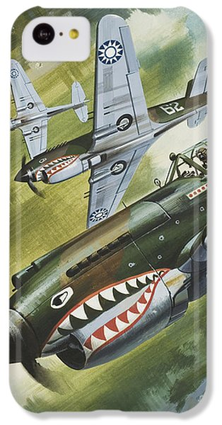 Famous Aircraft And Their Pilots IPhone 5c Case by Wilf Hardy