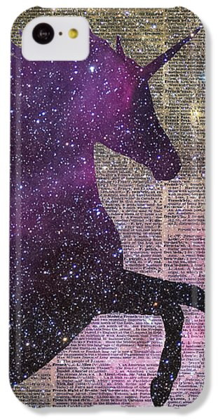 Fantasy Unicorn In The Space IPhone 5c Case by Jacob Kuch
