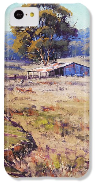 Rural Scenes iPhone 5c Case - Farm Shed Pyramul by Graham Gercken