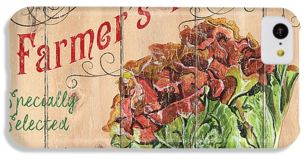 Vegetables iPhone 5c Case - Farmer's Market Sign by Debbie DeWitt