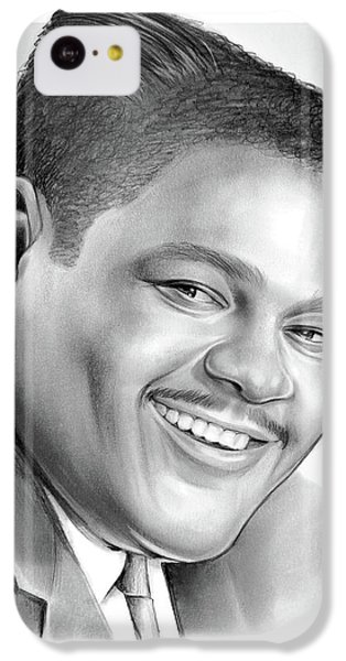 Drum iPhone 5c Case - Fats Domino by Greg Joens