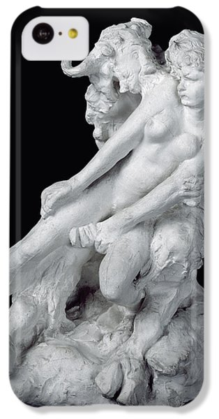 Minotaur iPhone 5c Case - Faun And Nymph by Auguste Rodin