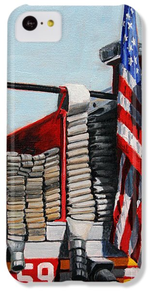 Harlem iPhone 5c Case - Fdny Engine 59 American Flag by Paul Walsh