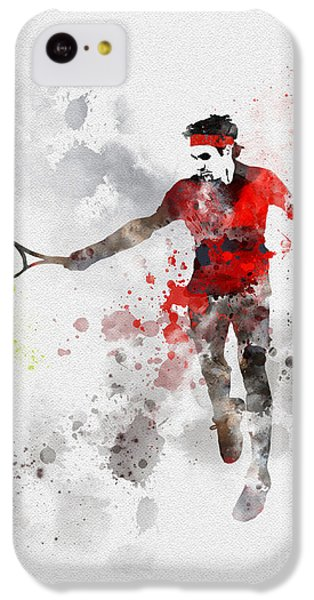Tennis iPhone 5c Case - Federer by Rebecca Jenkins