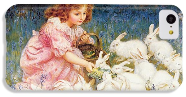 Feeding The Rabbits IPhone 5c Case by Frederick Morgan