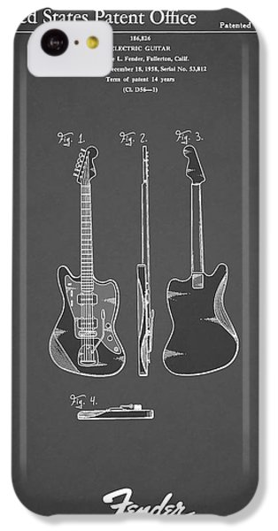 Guitar iPhone 5c Case - Fender Electric Guitar 1959 by Mark Rogan