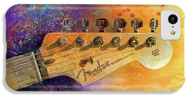 Guitar iPhone 5c Case - Fender Head by Andrew King