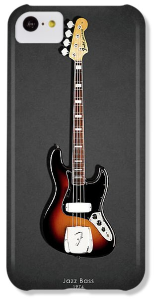 Guitar iPhone 5c Case - Fender Jazzbass 74 by Mark Rogan