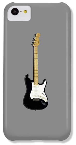Fender Stratocaster Blackie 77 IPhone 5c Case by Mark Rogan