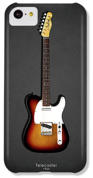 Guitar iPhone 5c Case - Fender Telecaster 64 by Mark Rogan