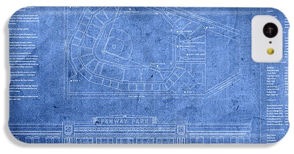 Fenway Park Blueprints Home Of Baseball Team Boston Red Sox On Worn Parchment IPhone 5c Case