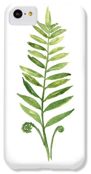 Fern Leaf Watercolor Painting IPhone 5c Case
