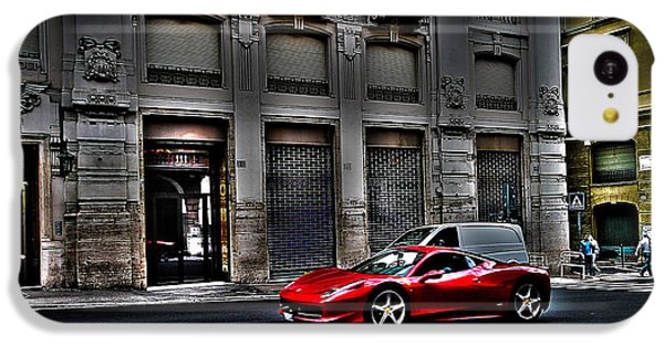 Ferrari In Rome IPhone 5c Case by Effezetaphoto Fz