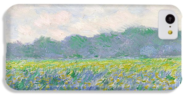 Rural Scenes iPhone 5c Case - Field Of Yellow Irises At Giverny by Claude Monet