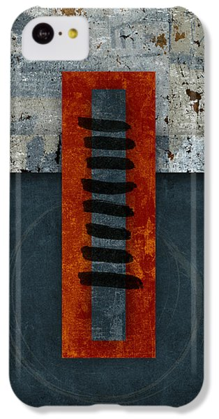 Fiery Red And Indigo One Of Two IPhone 5c Case