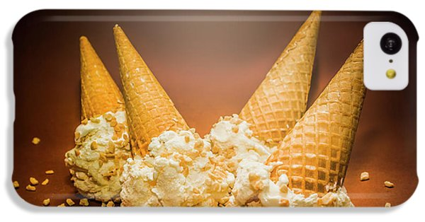 Fine Art Ice Cream Cone Spill IPhone 5c Case by Jorgo Photography - Wall Art Gallery