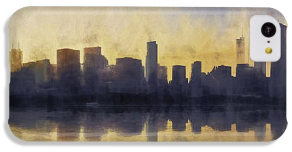 Fire In The Sky Chicago At Sunset IPhone 5c Case by Scott Norris