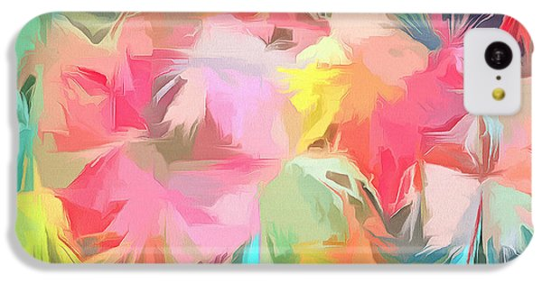 Fireworks Floral Abstract Square IPhone 5c Case by Edward Fielding