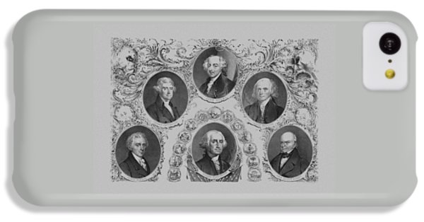 Thomas Jefferson iPhone 5c Case - First Six U.s. Presidents by War Is Hell Store