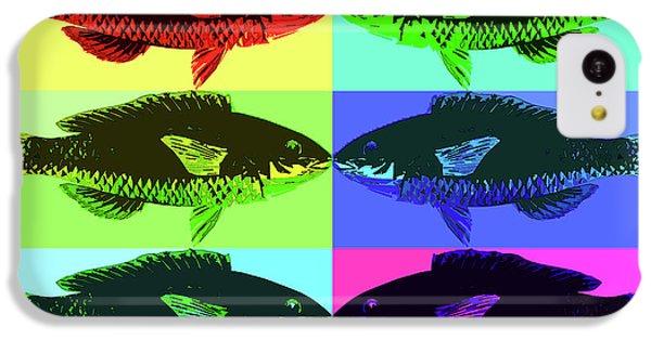 IPhone 5c Case featuring the digital art Fish Dinner Pop Art by Nancy Merkle