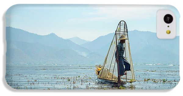 Burmese Python iPhone 5c Case - Fisherman by Delphimages Photo Creations