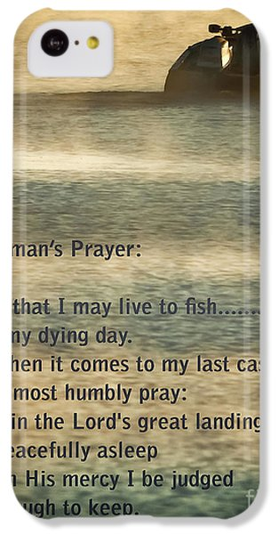 Salmon iPhone 5c Case - Fisherman's Prayer by Robert Frederick