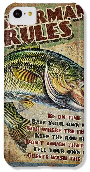 Smallmouth Bass iPhone 5c Case - Fisherman's Rules by JQ Licensing