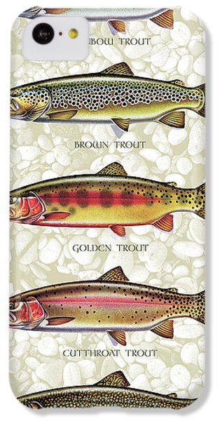 Trout iPhone 5c Case - Five Trout Panel by JQ Licensing