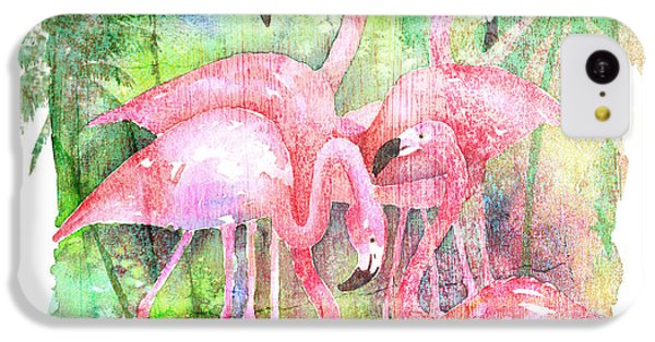 Flamingo Five IPhone 5c Case by Arline Wagner