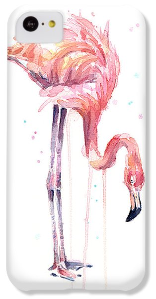 Flamingo Painting Watercolor IPhone 5c Case