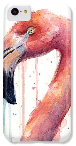 Flamingo Watercolor Illustration IPhone 5c Case