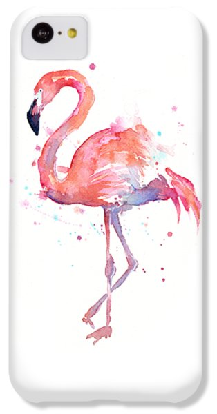 Flamingo Watercolor IPhone 5c Case by Olga Shvartsur