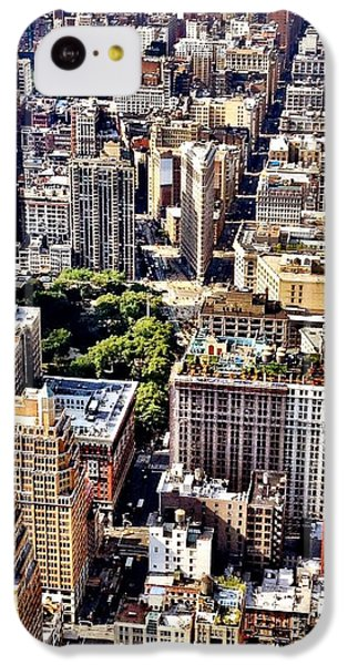 Architecture iPhone 5c Case - Flatiron Building From Above - New York City by Vivienne Gucwa