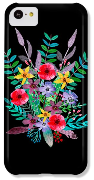 Flowers iPhone 5c Case - Just Flora by Amanda Lakey