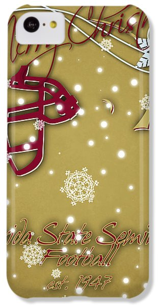 Florida State Seminoles Christmas Card 2 IPhone 5c Case by Joe Hamilton