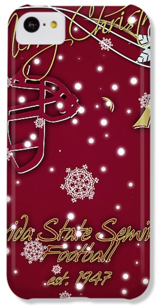 Florida State Seminoles Christmas Card IPhone 5c Case by Joe Hamilton