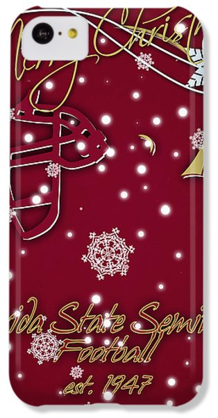 Florida State Seminoles Christmas Card IPhone 5c Case by Joe Hamilton