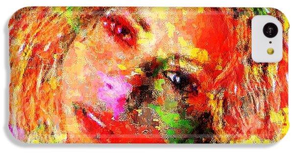 Shakira iPhone 5c Case - Flowery Shakira by Navo Art
