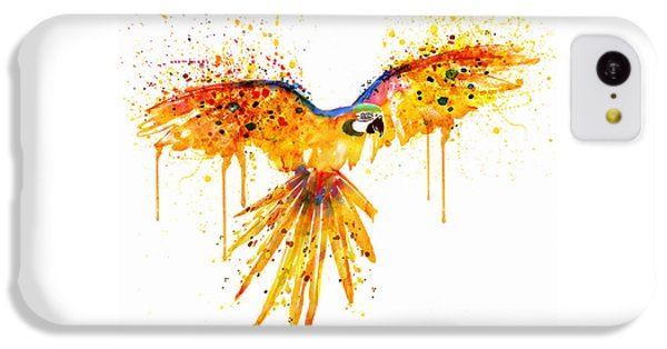 Flying Parrot Watercolor IPhone 5c Case by Marian Voicu